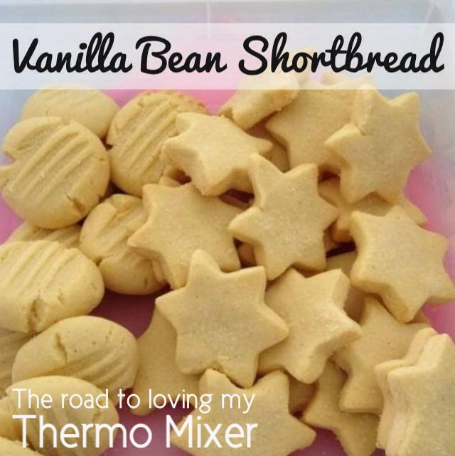 Vanilla Bean Shortbread The Road To Loving My Thermo Mixer